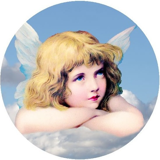 Angel Pinback Buttons and Stickers