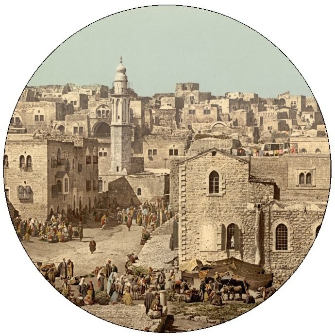 Bethlehem Pinback Buttons and Stickers