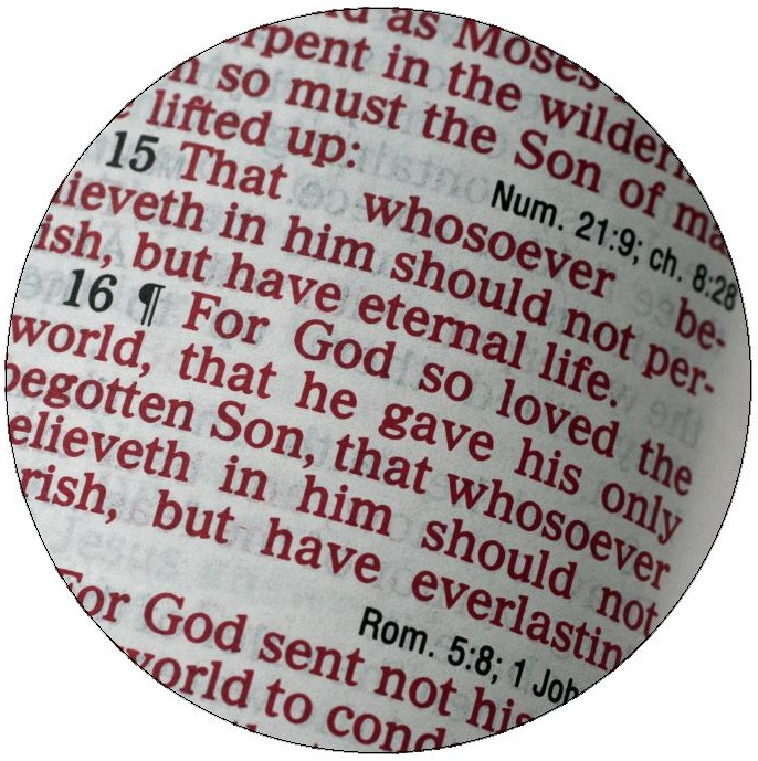 Bible Pinback Buttons and Stickers