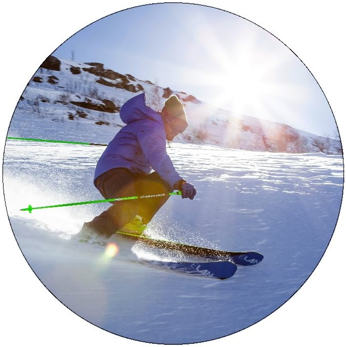 Ski and Snowboard Pinback Buttons and Stickers