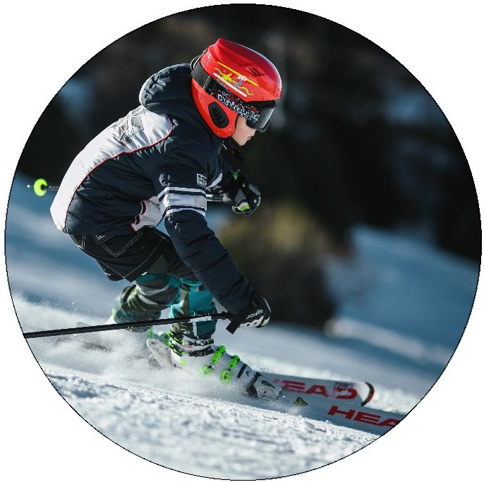 Ski and Snowboard Pinback Button and Stickers