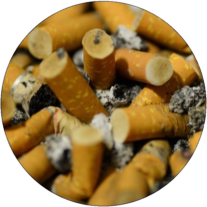 Quit Smoking Pinback Button and Stickers