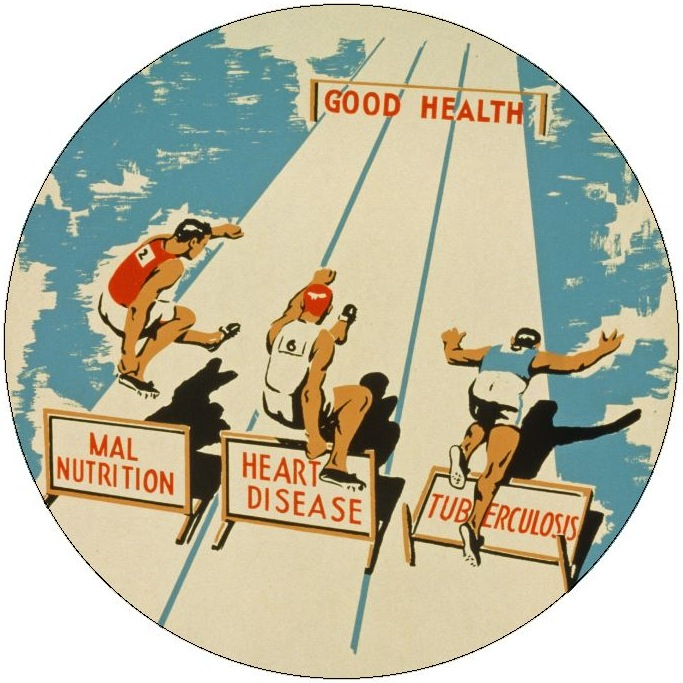 Health Pinback Button and Stickers