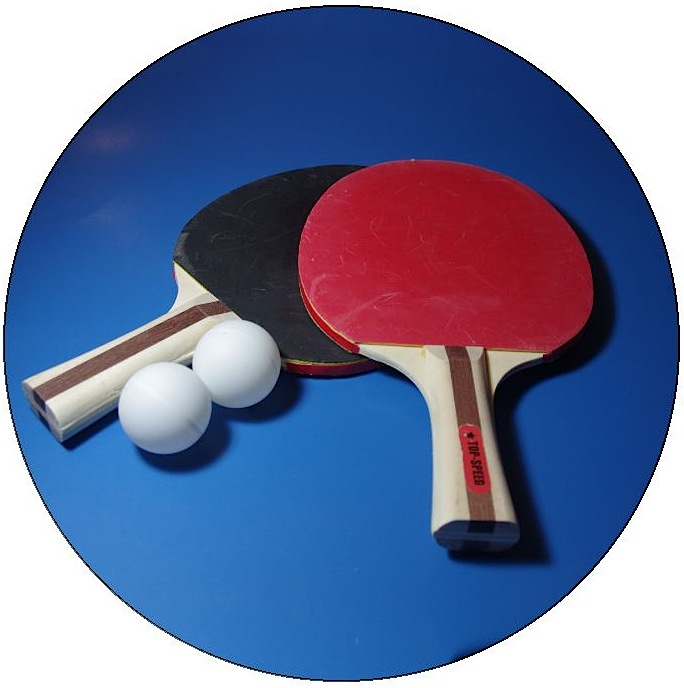 Table Tennis Pinback Buttons and Stickers