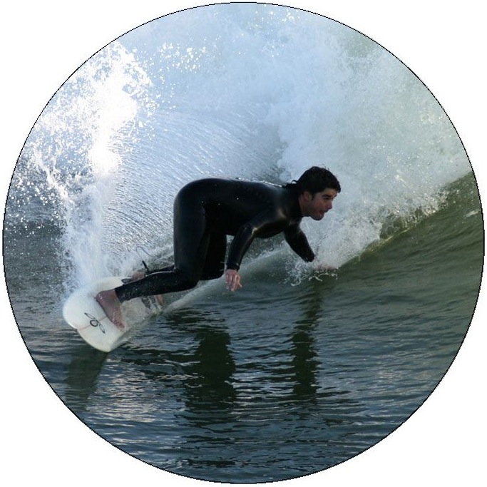 Surfing Pinback Buttons and Stickers
