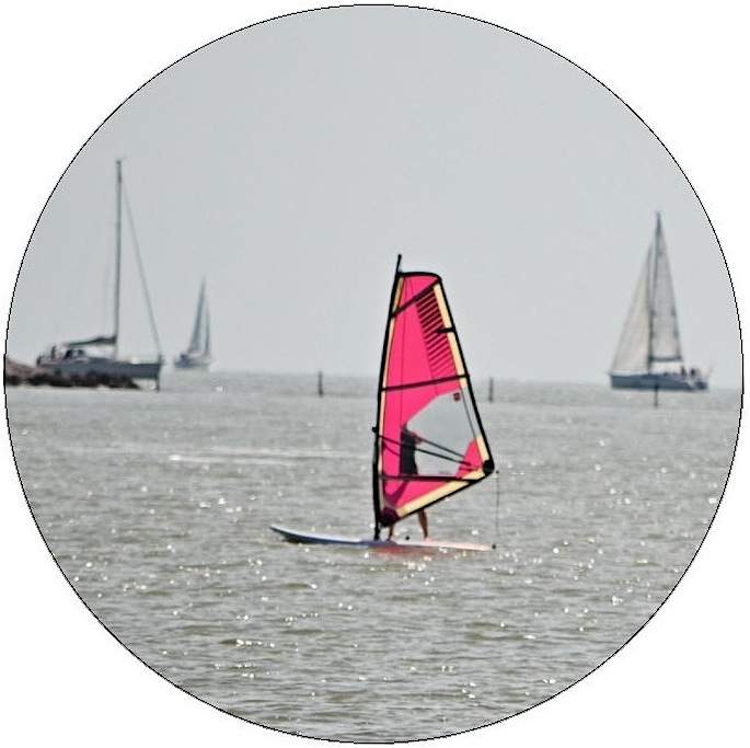 Wind Surfing Pinback Buttons and Stickers