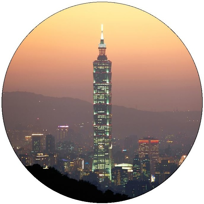 Taipei Pinback Button and Stickers