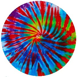 Tie-Dye Pinback Buttons and Stickers