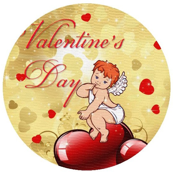 Valentine Pinback Button and Stickers