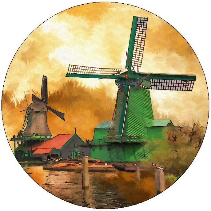 Windmill Pinback Buttons and Stickers