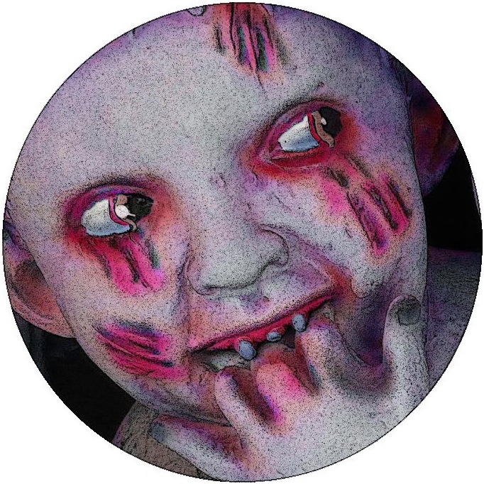Zombie Baby Pinback Buttons and Stickers